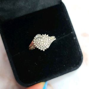 Real Diamonds heart shaped engagement ring